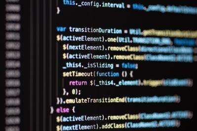 Programming coding language displayed on computer screen