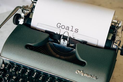 typewriter with goals