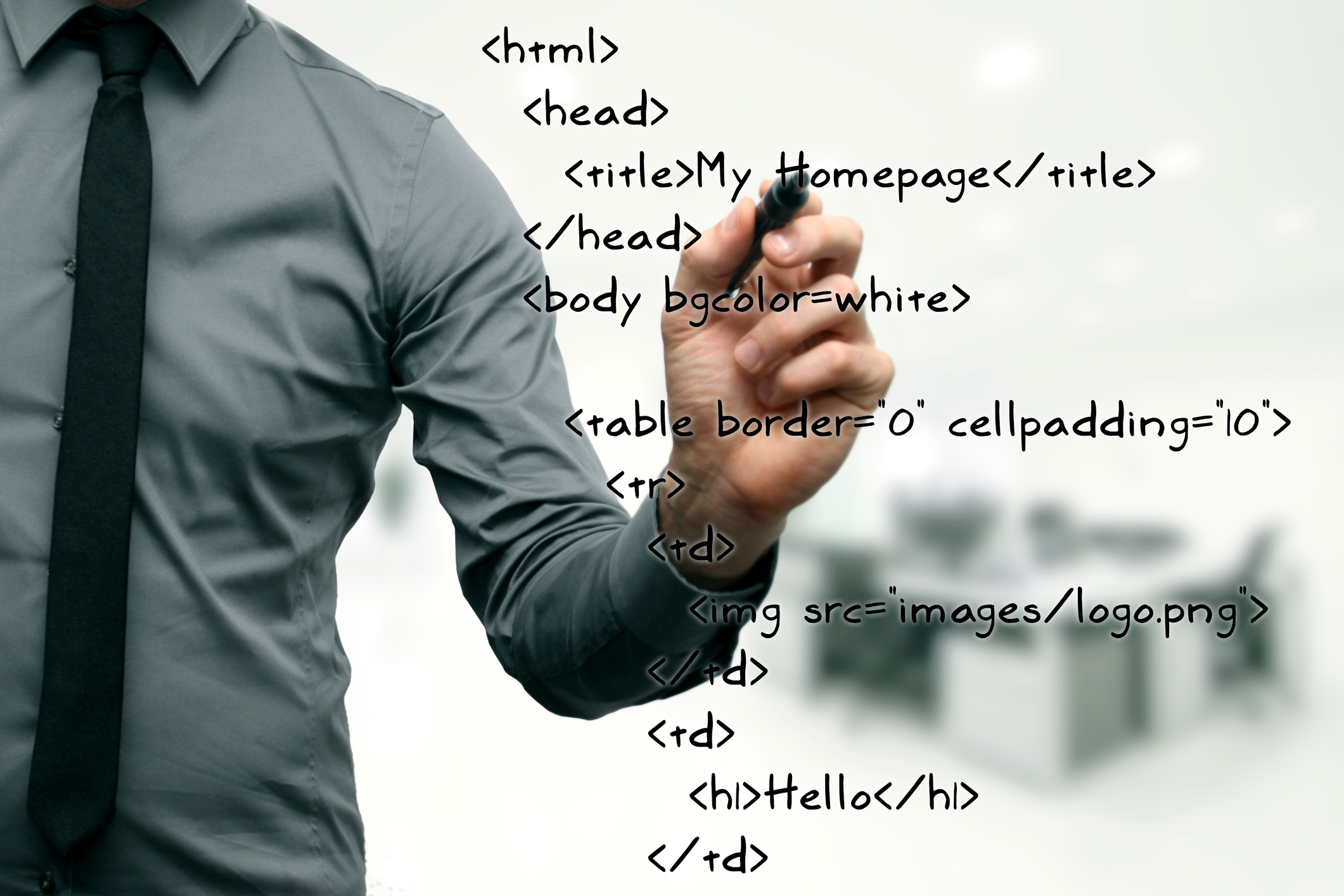 HTML Code Example on Whiteboard